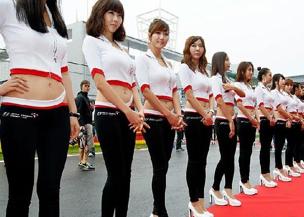 韩国f1美女宝贝点靓赛道