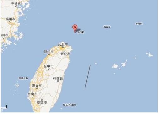 资料图:彭佳屿地理位置