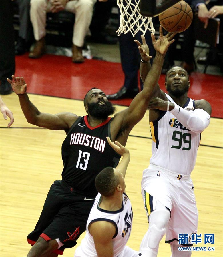(体育)(1)篮球――NBA季后赛西部半决赛:火箭不敌爵士