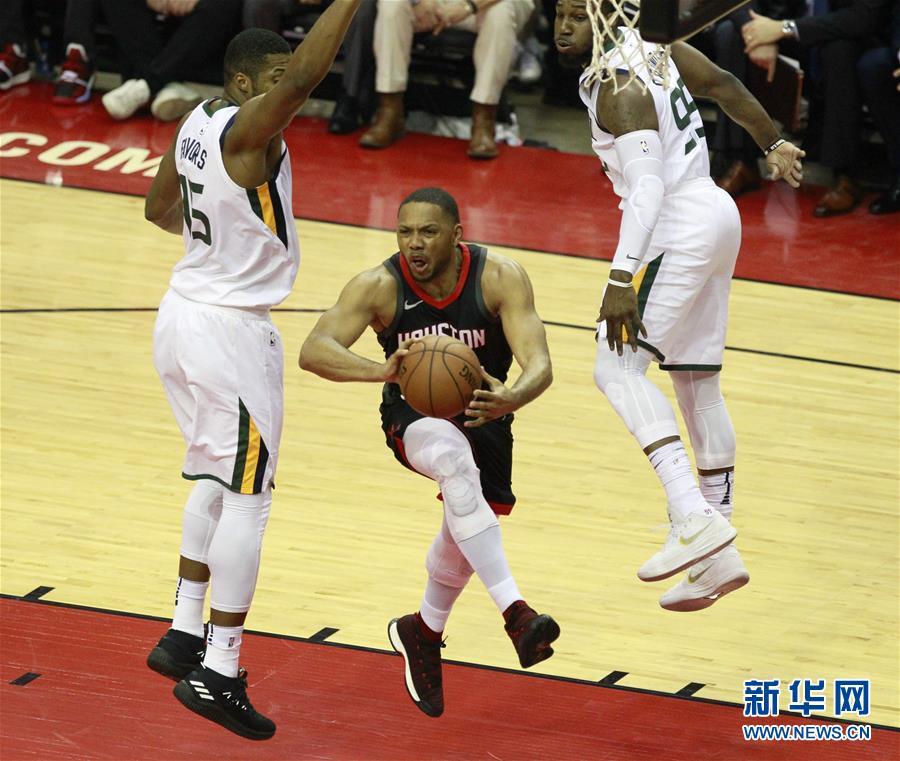 (体育)(3)篮球――NBA季后赛西部半决赛:火箭不敌爵士