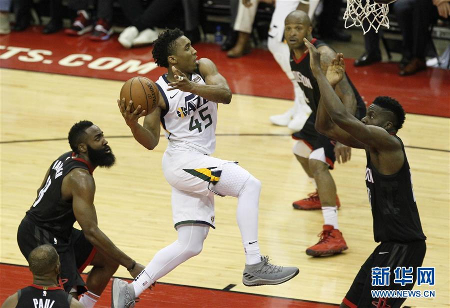 (体育)(6)篮球――NBA季后赛西部半决赛:火箭不敌爵士