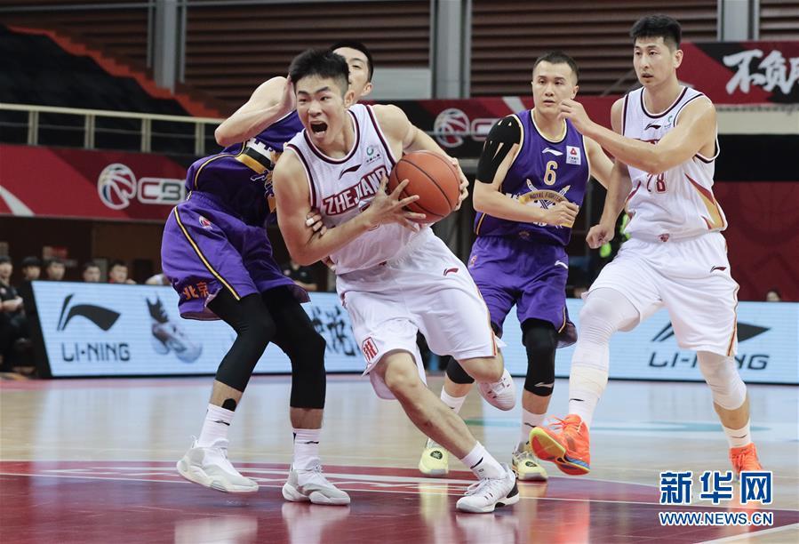 #(体育)(1)篮球——CBA季前赛:浙江稠州金租胜北京紫禁勇士
