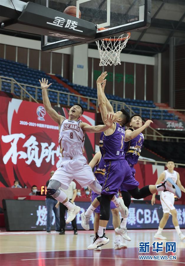#(体育)(4)篮球——CBA季前赛:浙江稠州金租胜北京紫禁勇士