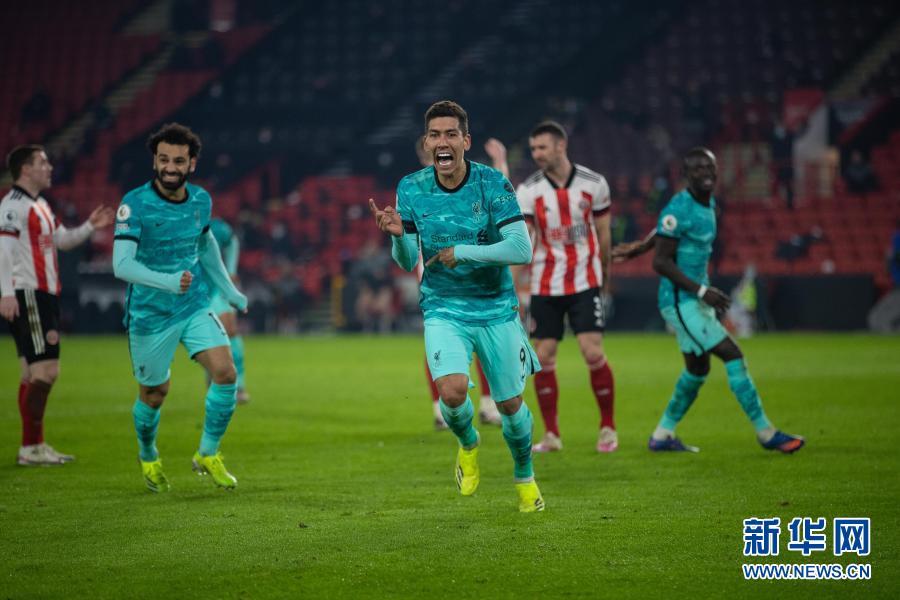 英超:利物浦客场胜谢菲联